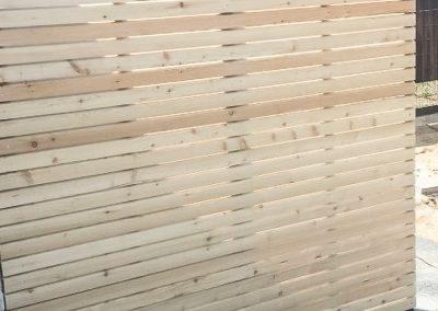 Holzzaun-Rhombus-Stahl-c